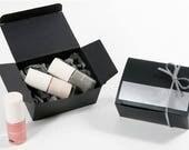 5 black mini rectangle box,black favor box,small box,black gift box,black cosmetic box,plain gift box,gifts,bridal shower,wedding favor box,