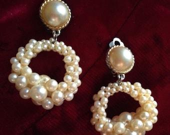 Ears coils Imitation beads 60 years