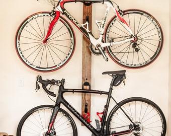 Bike Rack 3 Vertical Wall Mount Adjustable With Wall