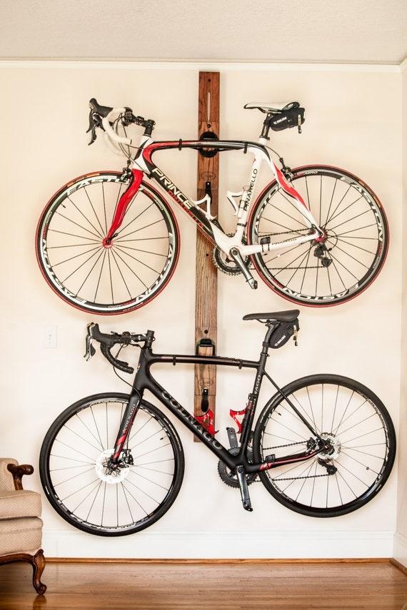 bike rack horizontal wall mount adjustable double bike rack. Black Bedroom Furniture Sets. Home Design Ideas