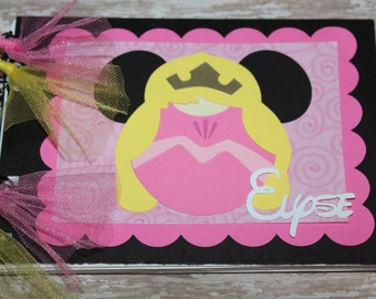 Personalized Disney Autograph Book inspired by Sleeping Beauty Aurora