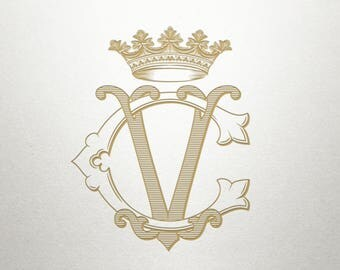Monogram Crown Design  - Noble Crown -  Crown Design - Digital