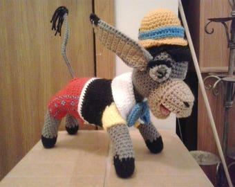 Donkey Pinocchio Amigurumi Pllush