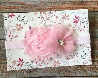 Pink Baby Headband/Baby Headband/Newborn Headband/Infant Headband/Pink Headband/Light Pink Headband/Baby Girl Headband/Hair Accessories/Baby