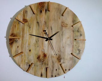 Hand made wall clock 50 to 55 cm free register shipping
