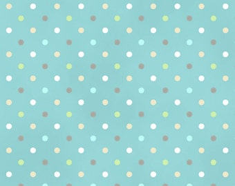 Dots in Teal from the Guess How Much I Love You 3 Collection by Clothworks