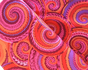 Curly Baskets in Red by Philip Jacobs for Kaffe Fassett, Choose Your Cut, Cotton Fabric