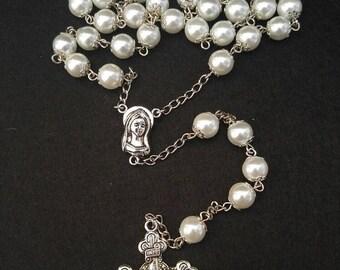 """The """"White Elegance II"""" Rosary"""