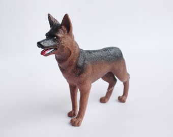 """1/6 Scale German Shepherd Dog Police Dog Military Dog Fits 12"""" Toy Soldiers"""