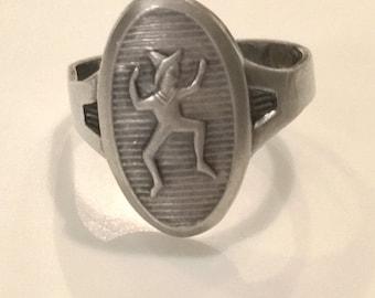 Vintage Brownie Adjustible Sterling Silver Ring
