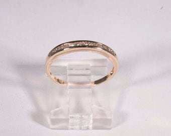 14K Yellow Gold Diamond Anniversary Band with app. .15 ct. tw., size 6