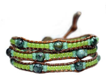 Bracelet Bohemian Green 501