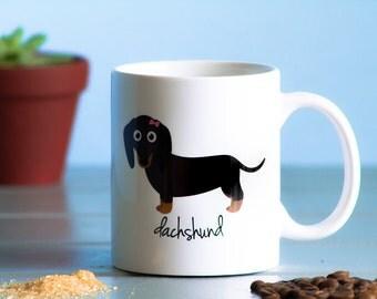 Dachshund Mug (black and tan - girl)