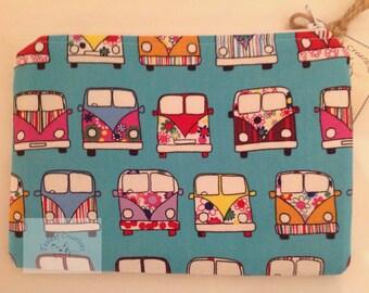"""8"""" Make Up Bag  - Mint Camper Vans"""
