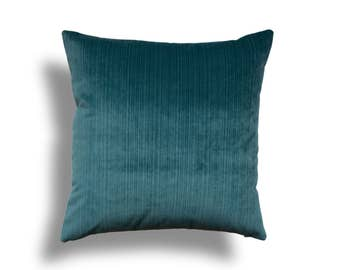 Teal Throw Pillow Cover - Velvet Throw Pillow - Teal Velvet Pillow Cover - Designer Throw Pillow Cover -Velvet Pillow - Teal Pillow Cover