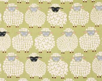Sheep printed Fabric, Knitty Sheep designed by Maria Kalinowski for Kanvas Fabric by the Half Yard