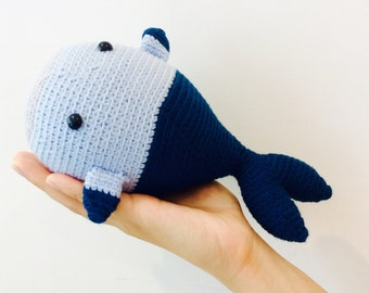 Stuffed Crochet Blue Whale, Crochet Whale, Crochet Whale Amigurumi, Crochet Whale Plush Toy, Plushy Whale, Happy Birthday Gift for Kids