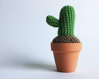 Crochet Cactus in a Terracotta Pot - Amigurumi Cactus [Ready to ship]