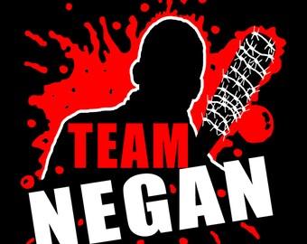 Team Negan, Negan Decal, The Walking Dead, Negan, Walking Dead Decal, Walking Dead, Lucille, Lucille Decal, Zombie, Blood, Death, Car Decal