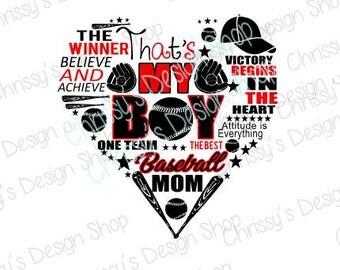 Baseball heart svg / baseball love svg / baseball cut file / baseball mom cut file / baseball quote / baseball clip art / baseball stencil