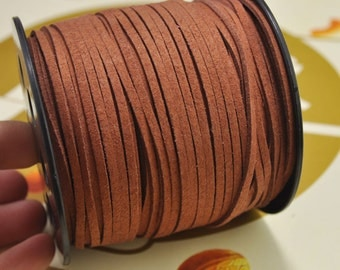 20yard 2.5mm Flat Faux Suede Leather Cord,Signal brown Leather String Cord,Faux Suede Lace,Vegan Suede Cord,bracelet/necklace cord Supplies