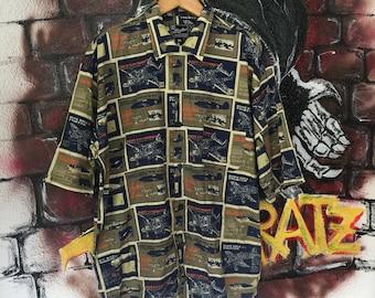 Vintage 90s Hip Hop Karl Kani Button Shirt