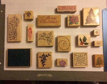 Christmas Ink Stamps (Lot of 17)