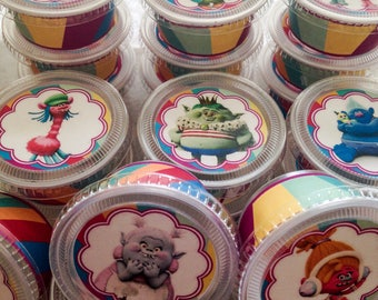 Trolls 2oz Mini Party Favor cups containers