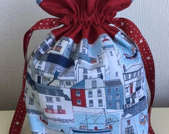 Knitters/Sock Knitters/Crafts Project bag - Coast