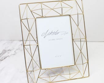 Gold Geometric Photo Frame