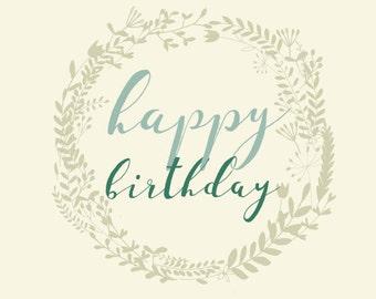 Greetings Card - Happy Birthday