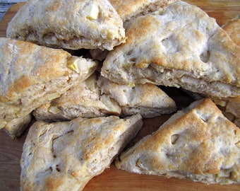 Apple Peanut Butter Scones, Scones, 1 Dozen, Apple Scones, Peanut Butter Scones
