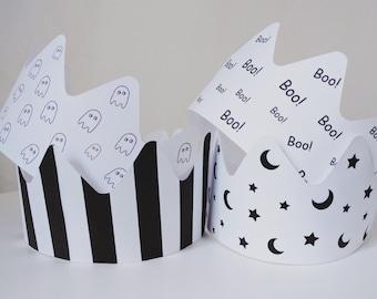 HALLOWEEN Printable Crown Templates (x6)
