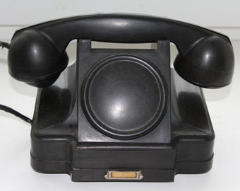 Soviet phone 1961. Soviet telephone. Vintage phone. Vintage telephone. Rotary Dial Phone. Black rotary phone