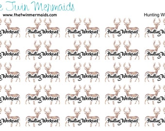Hunting Weekend Planner Stickers