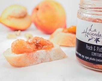 Peach & pistachio confiture- Peach jam- Artisan jam-Gourmet food gift-Foodie gift- Peach and Pistachio jam