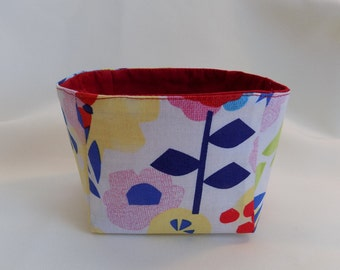 Funky Floral Small Basket