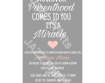 Adoption Baby Shower Invitation