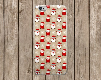 iPhone 5/5s/SE | iPhone 6/6s | iPhone 6 Plus/6s Plus | Santa and Snowmen Christmas Design iPhone Case