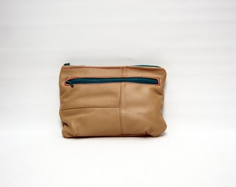 Belt/strap recycled leather pouch