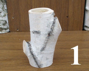 Large birch log vase, birch decor, birch bark decor, table centerpiece, rustic decor, home decor,florist supply,wood vase,floral arrangement