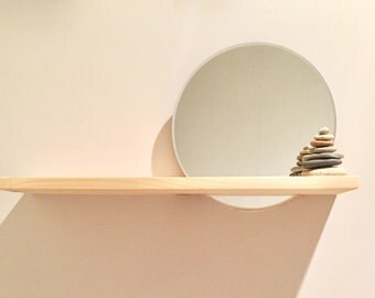 Floating Nightstand w/ Mirror