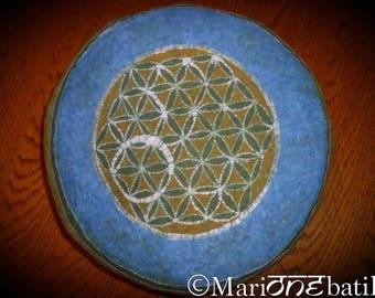 Batik flower of life meditation cushion: perfection