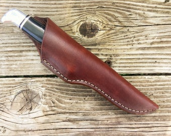 Galerry custom leather cross draw knife sheath for a buck 105 knife not for