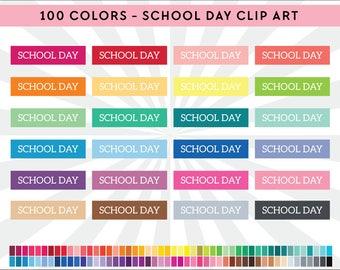 School days clip art – Etsy