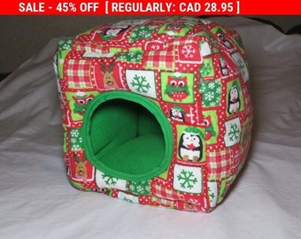 Christmas Cuddle / Snuggle Cube Hedgehog, Guinea Pig, Rat, Hamster, Small pet