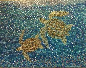 Sea Turtle Mosaic Etsy