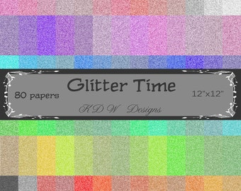 Glitter paper,digital paper, scrapbooking, scrapbook paper, background paper, digital art, 12x12, 80 papers
