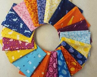 Luna Sol Fat Quarter Stack by Felice Regina 19 pieces
