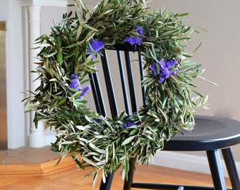 Sea Lavender and Olive Wreath | Spring Wreath | Spring Wreaths for Front Door | Olive Wreath | Wreaths for Easter | Outdoor Wreaths